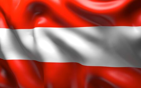 central europe: National Flag of the Austria - a republic in central Europe
