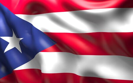bandera de puerto rico: National Flag of the Puerto Rico waving in the wind Foto de archivo