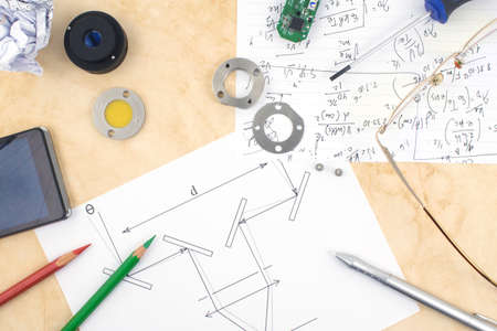 applied: A workspace of a hardware developer and applied scientist in optics and electronics.