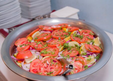 Picture of some colorful Indian vegetable salad