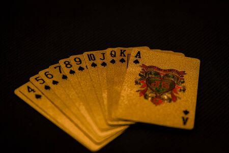 Spades from a deck of cards Reklamní fotografie