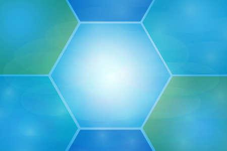 hexagonal blue abstract background