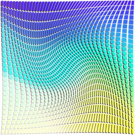 retangular pattern shape in colorful pattern background warp  Ilustração