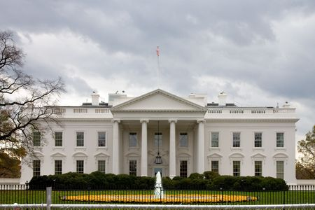 The front of the White House in Washington, DC