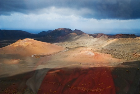 The national park in lanzarote
