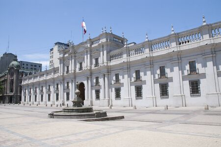 bandera de chile: Palacio de La Moneda, Santiago de Chile