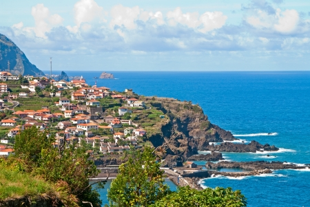 The small village on Madeira Stock Photo