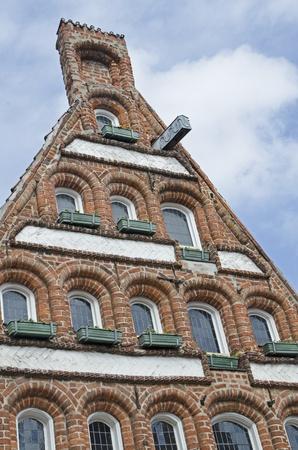 central square: facciate a Lunenburgs centrale piazza Am Sande Archivio Fotografico