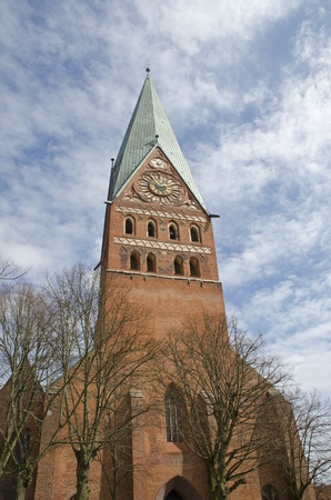 incidental people: St  Johannis church, Lueneburg, Lower Saxony, Germany