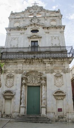 region sicilian: The church in siracusa ,sicily