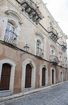ragusa: Ragusa,Typical Sicilian old town. Stock Photo