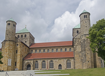 high priest: The St.Michaelis church in hildesheim. Stock Photo