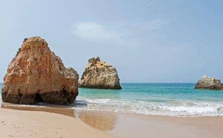 tres: Praia Tres Irmaos in Alvor Algarve Portugal. Stock Photo