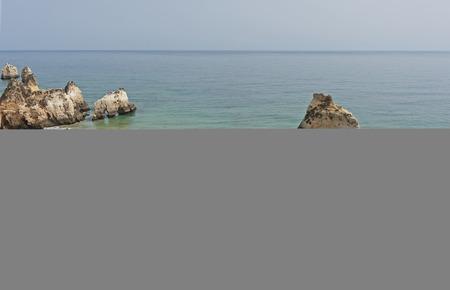 praia: Praia Tres Irmaos in Alvor Algarve Portugal. Stock Photo