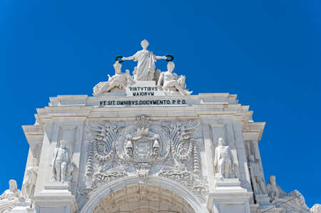 augusta: Arco Triunfal da Rue Augusta in Lissabon, Portugal