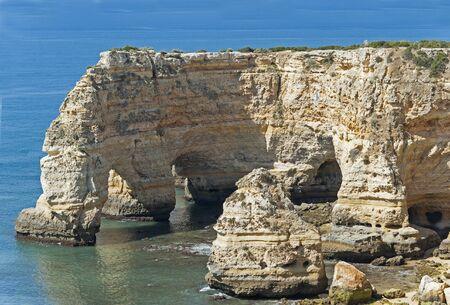 algarve: Carvoeiro in the Algarve in Portugal Stock Photo