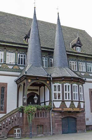 trave: Medieval Town Hall in downtown of Einbeck, Germany