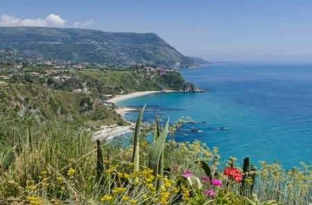 View on Capo Vaticano in Calabria