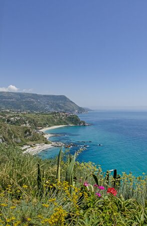 View on Capo Vaticano in Calabria