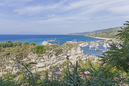 south italy: Panoramic view on Tropea city, south italy