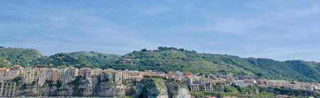 historic architecture: Italian city Tropea, area Calabria, street and historic architecture. Stock Photo