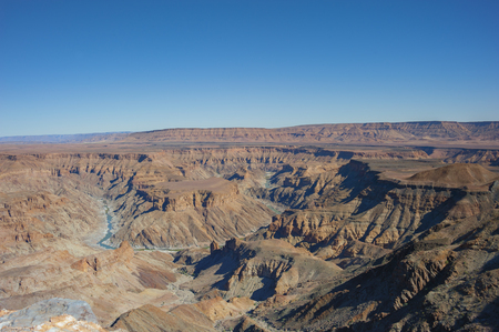 The Fish River Canyon in Namibia Stock Photo