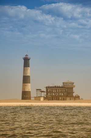 Ocean lighthouse in walvis bay , pelican point