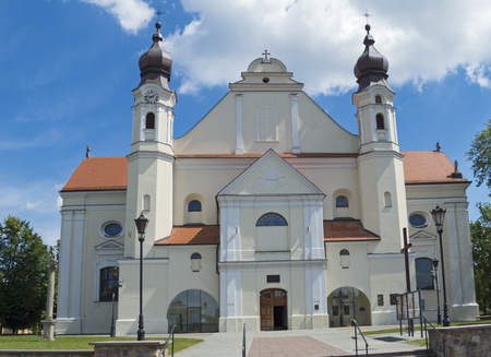 the catholic church in lask , poland Stock Photo