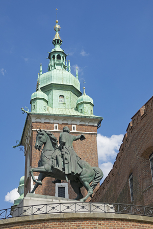 the territory of the Wawel castle in Krakow, Poland