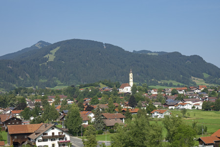View of the idyllic Village of Pfronten in Allgaeu, Bavaria, Germany Imagens