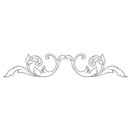 floral swirls: Vintage baroque frame
