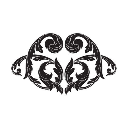 vintage baroque element ornament. Retro pattern antique style acanthus. Decorative design element filigree calligraphy vector.