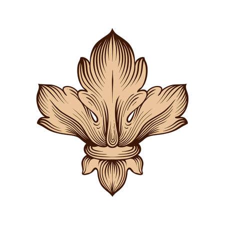 alte barocke Element Ornament. Retro-Muster im antiken Stil Akanthus. Dekorative element entwerfen filigran Kalligraphie Vektor.
