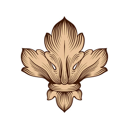 vintage baroque element ornament. Retro pattern antique style acanthus. Decorative design element filigree calligraphy vector. Stok Fotoğraf - 67372998