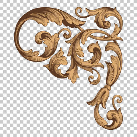 caligraphy: Isolate vintage baroque ornament retro pattern antique style acanthus. Decorative design element filigree calligraphy vector. You can use for wedding decoration of greeting card and laser cutting.