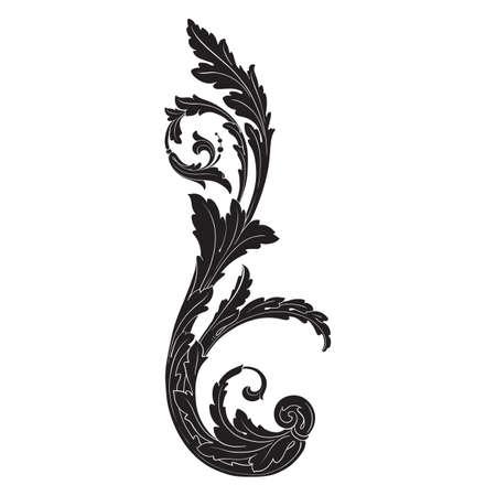 Baroque vector set of vintage elements for design. Decorative design element filigree calligraphy vector. You can use for wedding decoration of greeting card and laser cutting. Vektoros illusztráció