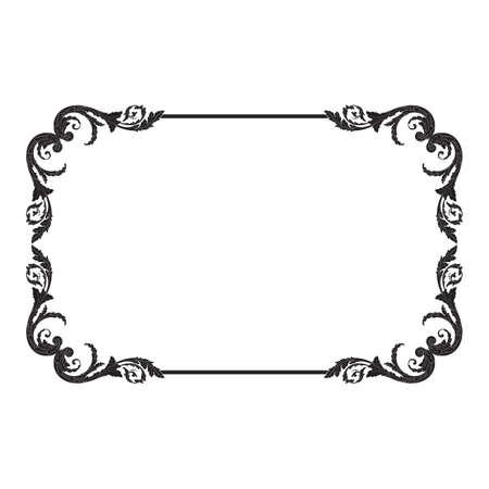 Vintage baroque frame Zdjęcie Seryjne - 83067676