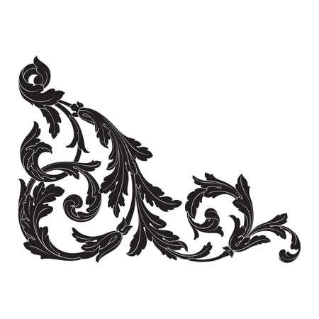 Lments baroques vecteur baroque pour conception. conception de luxe décoratif ensemble de conception de l & # 39 ; entrelacs . peut utiliser pour le mariage décoration de cartes de voeux et de la feuille de remplissage polygonale Banque d'images - 83385498