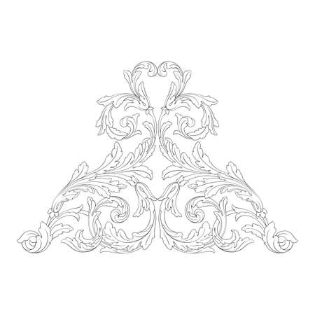 Baroque vector vintage elements for design. Decorative design element filigree calligraphy vector. You can use for wedding decoration of greeting card and laser cutting. Çizim