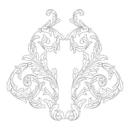 Baroque vector vintage elements for design. Decorative design element filigree calligraphy vector. You can use for wedding decoration of greeting card and laser cutting. Illustration
