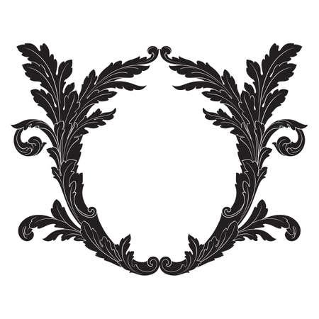 Baroque vintage elements for design. Ilustrace