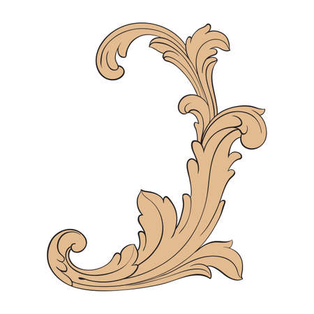 Baroque of vintage elements for design. Decorative design element filigree calligraphy vector. You can use for wedding decoration of greeting card and laser cutting.