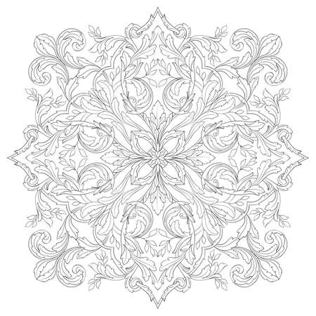 Ornament in baroque style. You can use for wedding decoration of greeting card and laser cutting. Illustration