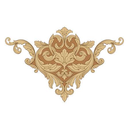 Vecteur baroque d'éléments vintage pour la conception. Vecteur de calligraphie filigrane élément décoratif design. Vous pouvez utiliser pour la décoration de mariage de la carte de voeux et la découpe au laser. Banque d'images - 84685717