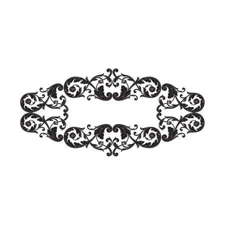 Barokke vector van uitstekend element voor ontwerp. Decoratieve filigraan kalligrafie vector ontwerpelement. U kunt gebruiken voor bruiloft decoratie van wenskaart en lasersnijden.