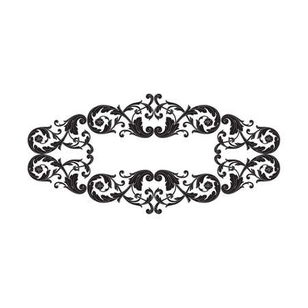 Vecteur baroque d'élément vintage pour la conception. Vecteur de calligraphie élément filigrane design décoratif. Vous pouvez utiliser pour la décoration de mariage de la carte de voeux et la découpe au laser. Banque d'images - 86733498
