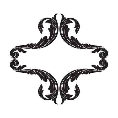 Classical baroque vintage element for design. Illustration