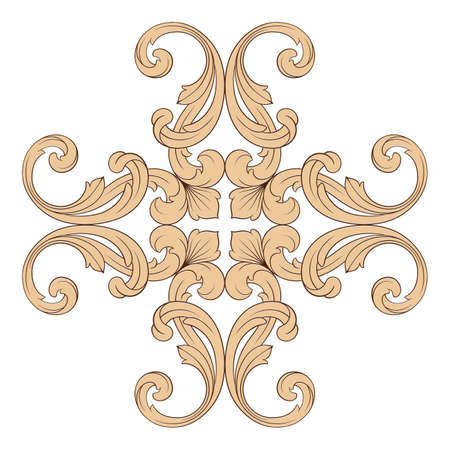 tu puedes: Classical baroque vector of vintage element for design. Decorative design element filigree calligraphy vector. You can use for wedding decoration of greeting card and laser cutting.