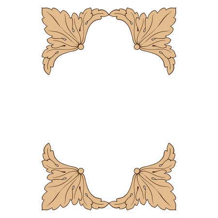 Decorative design element filigree calligraphy.