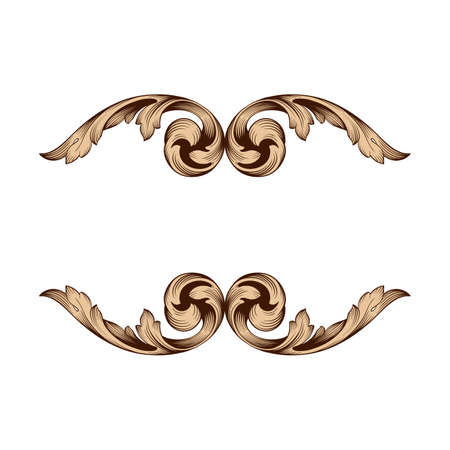 Classical baroque frame design.